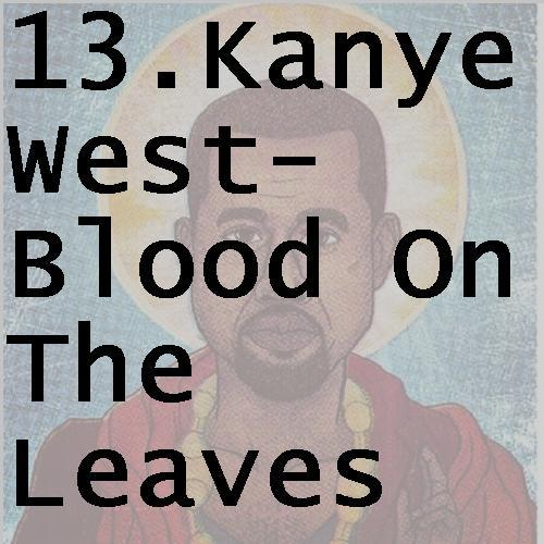 13kanyewestbloodontheleaves