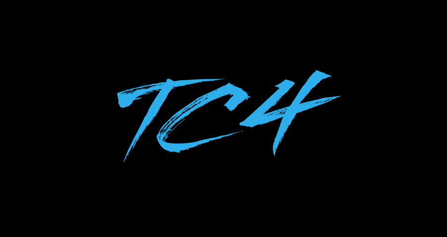 TC4 Blue on Black Logo