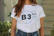 B3SCI white t-shirt